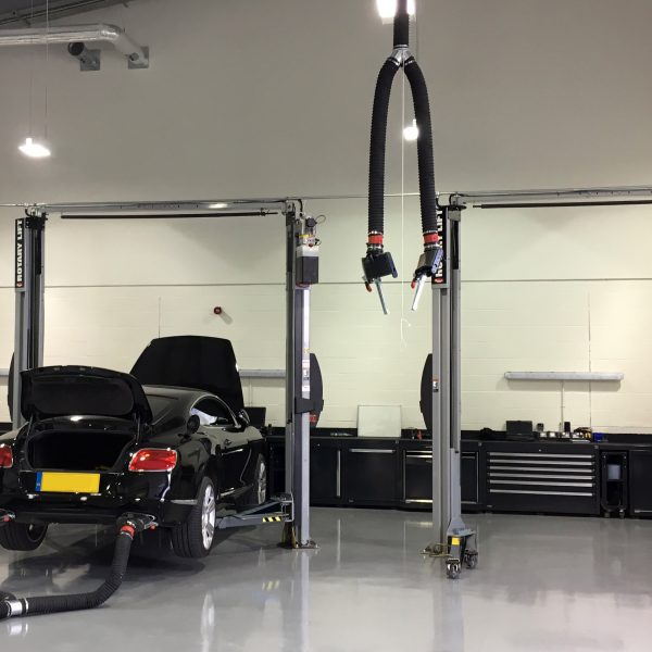 Two Post Lifts With Exhaust Extraction